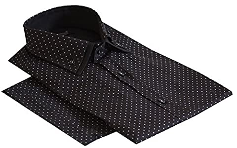 Daniel Rosso - Chemise business - Homme Multicolore Dotted (Black)