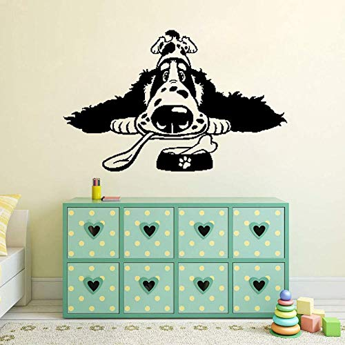 Wandaufkleber Cartoon Spaniel Breed Hundefutter Pvc Home Art Aufkleber Pvc Wandaufkleber 60Cm * 38.1Cm (Aufkleber Hundefutter)