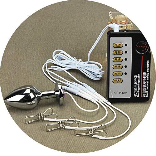 Fesseln Set Elektrische Schockspielzeuge Metallblockage Blockage Edelstahl Klemmen Clip SLE Spiel (Paare Halloween Kostüme Billig)