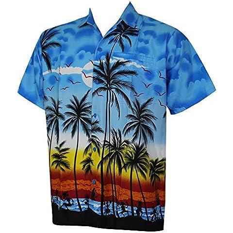 La Leela Hawaiana Camisetas | manga corta formal | Beach Shirt camisa de cuello | Blusa Hombre | Moda vestir | originales Casual regular fit XS - 5XL
