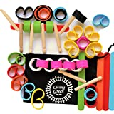 Educational Building and Design Toy for STEM Learning (Science Technology Engineering and Maths) 70 Piece Set For Thinking Skills, Creativity and Fine Motor Development