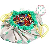 """Play&Go Large Children Cactus Play Mat And Toy Organizer Storage 55"""" Bag - Cactus"""