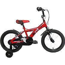 "Umit J1650 Bicicleta Infantil, Niños, Rojo/ Negro, 16"""