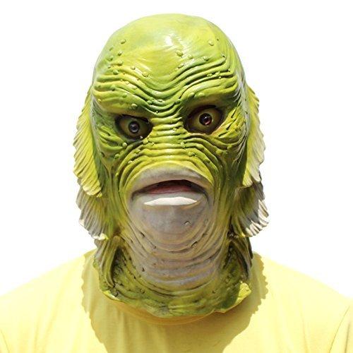 PartyCostume - Fisch Maske - Halloween Tierkopf Maske Kreatur Aus Der Schwarzen Lagune