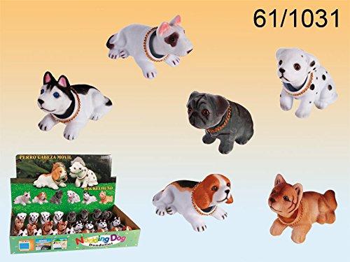 Biberon Pequeño perro con cabeza tambaleante (fanmarkt. tamaño: 10x 7cm. 6modelos diferentes), una selección no es posible por desgracia. así que se deje sorprender.