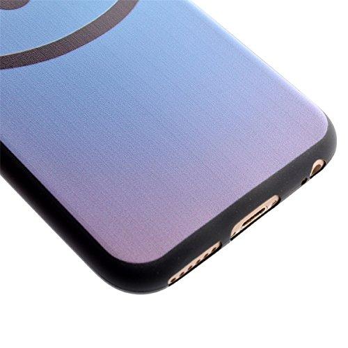 Felfy Silikon Hülle für iPhone 7,iPhone 7 Schutzhülle,iPhone 7 Case Schutz Ultradünne Slim Weicher Gel Flexible TPU Silikon Hülle Schutzhülle Silikon Cool Mode Hülle Farbe Muster Schutz Scratch Resist SMILE Tasche