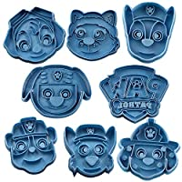 Cuticuter Paw Patrol Pack Cookie Cutter, Blue, 16 x 14 x 1.5 cm, Pack of 8