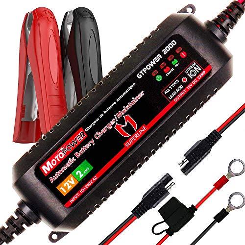 MOTOPOWER MP00207A 12V 2Amp Smart automatische Ladegerät/Maintainer für Bleibatterien und Lithium-Ionen-Batterien