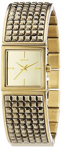 DKNY ny2231 - Reloj de cuarzo para mujer, correa de acero inoxidable chapado color dorado