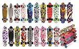 meteor designen Multicolore Mini Cruiser enfants & garçon skateboard en plastique de style rétro La Plus Haute Qualité (Fleurs blanches)
