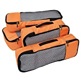 FATMUG Packing Cubes/Travel Pouch Bag - Suitcase Organiser Set of 4