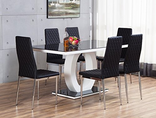 giovani-black-white-high-gloss-glass-dining-table-set-and-6-leather-chairs-seats
