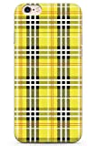 iPhone 6 / 6s Designer Jaune Carreaux en Gel de Silicone TPU Mince Souple Coque Vérifié Tartan Tweed Patterned À Carreaux