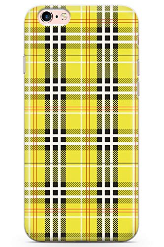 0f23da4fe4c21 iPhone 6 Case, iPhone 6s Designer Yellow Plaid Phone Case by Casechimp® |  Clear Ultra Thin Lightweight Gel Silicon TPU Protective Cover | Checked ...