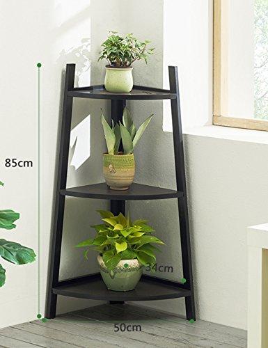 LYM & Pot rack Support de fleur en bois massif Coin d'angle Balcon Salon Plancher d'intérieur en bois Pots à fleurs décoratifs (Couleur : C, taille : 50*34*85cm)