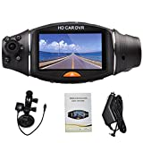 "Highdas 2.7""GPS Auto Registratore LCD HD Dual lens Vehicle Video Camera CAR DVR Dash Cam Recorder G-Sensor Nuovo"