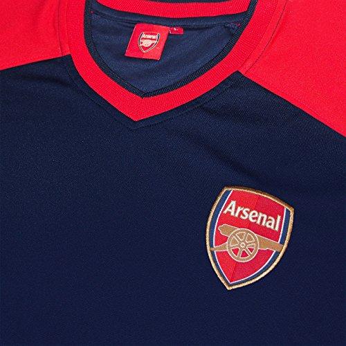 c8fb87104f4 Arsenal FC Official Gift Mens Poly Training Kit T-Shirt Navy V Neck ...