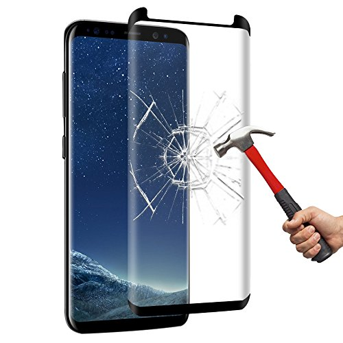 Galaxy S8 Plus Screen Protector,Yica 3D-Curved Tempered Glass Screen Protector for Samsung Galaxy S8 Plus S8+, 9H Hardness, Bubble Free, Anti-Fingerprint HD Screen Protector Film
