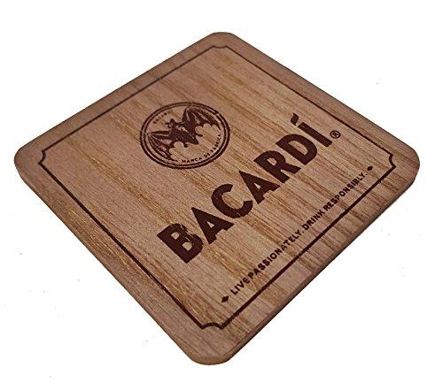 Bacardi Holz-Look Untersetzer Bierdeckel