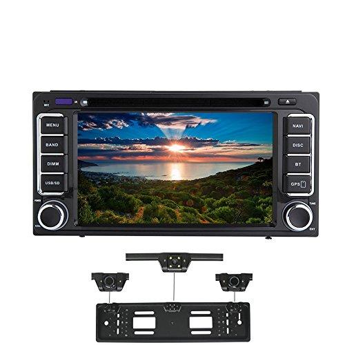 XISEDO Android 7.1 Autoradio 7 Zoll Car Radio RAM 2G Autonavigation Car Stereo mit 1024 * 600 Touchscreen und DVD Player für Toyota RAV4/ Corolla/Echo/ Vios/Camry/ Hilux/Prado/ Land Cruiser 100