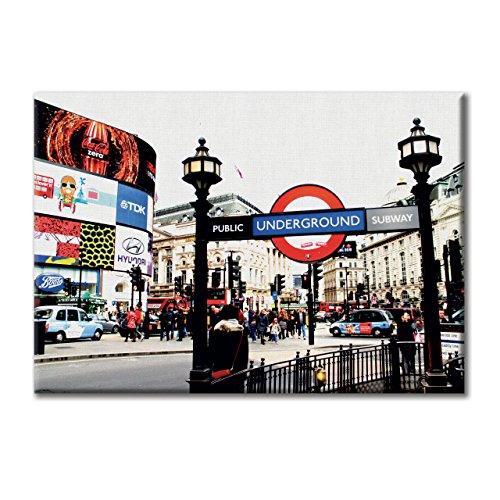 KiarenzaFD Leinwand-Panel Leinwand England London Piccadilly Circus U-Bahn U-Bahn-Mobel 70x50 cm