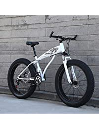 WN-PZF Bicicleta de 21 velocidades, Estudiante Adulto, Deportes al Aire Libre, Bicicleta de montaña, Bicicleta de Nieve, Ruedas ensanchadas de 4 Pulgadas + Sistema de Freno de Disco