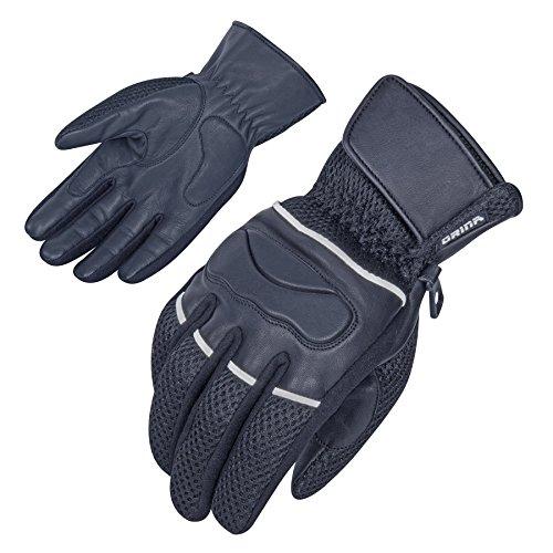 Motorradhandschuhe Sommer Leder & Mesh - Roller Handschuhe (M)