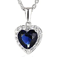 SaySure - Silver Pendant Necklace Romantic Titanic Ocean Heart