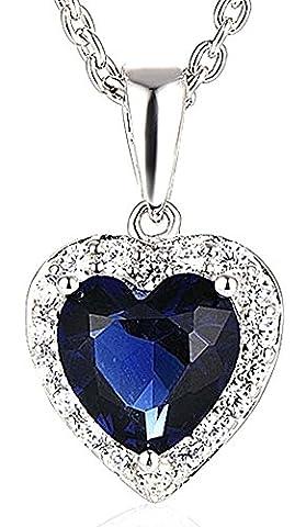 SaySure - Silver Pendant Necklace Romantic Titanic Ocean Heart
