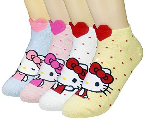 jjmax-donna-collezione-di-gattini-hello-kitty-collezione-di-calze-di-miscela-di-cotone-sveglio
