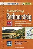 Hikeline Fernwanderweg Rothaarsteig 160 km: Von Brilon im Sauerland über den Kamm des Rothaargebirges nach Dillenburg. Wanderführer und Karte 1  :35.000, wetterfest