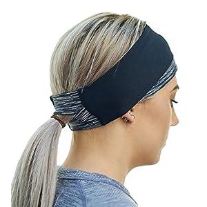 Red Dust Active Sportliches Winter Stirnband – Haarband für aktive Frauen – warmes & bequemes Kopfband – Zopf-freundlich – Ohrenwärmer für Jogger – feuchtigkeitsableitendes Schweißband