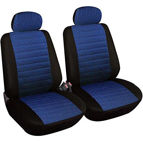Woltu 7232-2 set coprisedili anteriori auto 2 posti seat cover protezioni universali per macchina tessuto poliestere nero/blu
