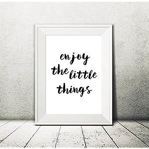 Kunstdruck • enjoy the little things • Wohndeko (AP6) - DIN A4 Artprint vom Papierbuedchen
