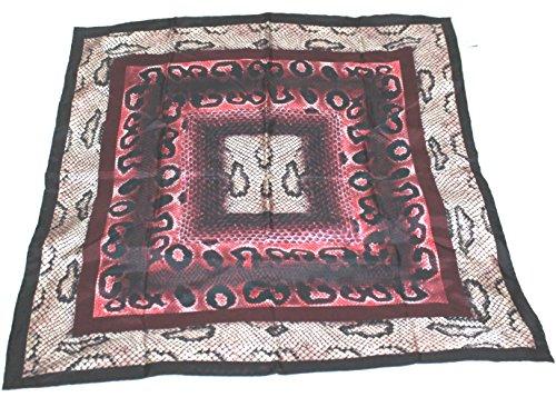 longchamp-seidentuch-69-x-69cm-reptil-look-rot-und-schwarz-scarve