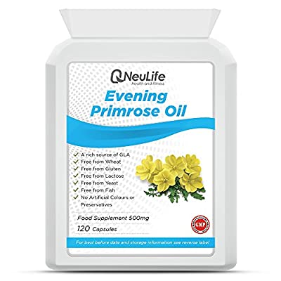 Evening Primrose Oil 500mg - 120 Capsules - by Neulife Health and Fitness from Neulife Health and Fitness