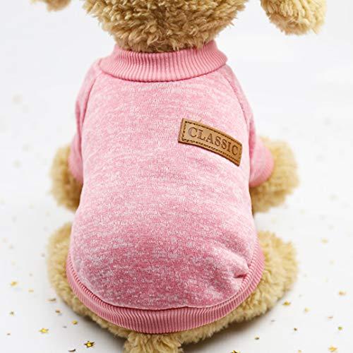 Smoro Haustier Hund Katze Pullover, warme Hunde Pullover Katze Kleidung, Fleece Haustier Mantel für ()