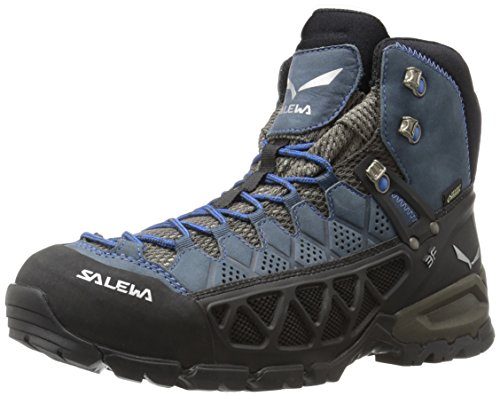 SALEWA Ms Alp Flow Mid Gtx, Scarpe da Escursionismo Uomo Nero (Black Olive/royal Blue 0940)