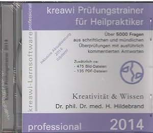 kreawi Prüfungstrainer für Heilpraktiker 2014, 1 CD-ROM Über 5000 Fragen aus schriftlichen und mündlichen Überprüfungen mit ausführlich kommentierten Antworten. Mit 475 Bild-, u.135 PDF-Dateien. Inklusive Aktualisierung 2014 (Update). Für Windows 98/ME/Server