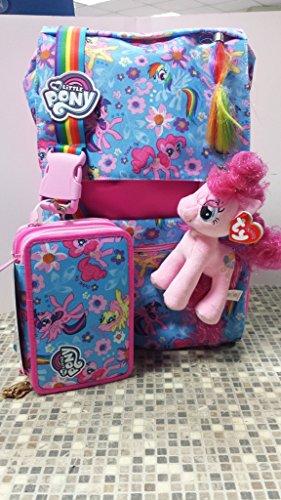 Seven school pack my little pony zaino estensibile + astuccio + personaggio