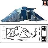 570x210cm Familienzelt für 6 Personen, 2000mm PU wasserdicht: 570x210 Camping Zelt Zelte Outdoor Igluzelt