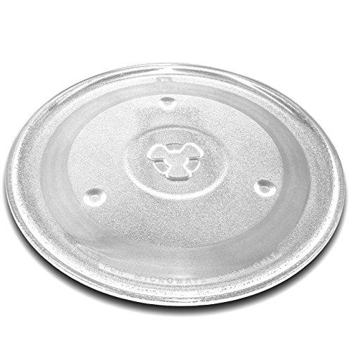vhbw Plato de microondas de cristal de 27 cm con soporte en...