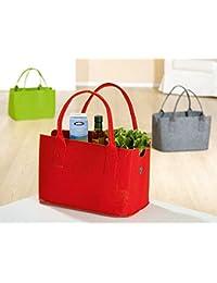 Gilde Shoppingbag Tasche Ananas Umhängegurt B41 H 65 Spruch Die Arbeit kann Warten, Dein Leben nicht !