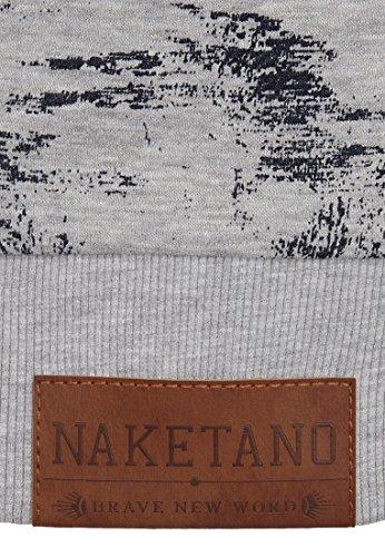 Naketano Male Sweatshirt Nasenbär Sucht Dreier II Grey Melange