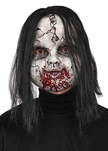 Halloween-Terror Tot blutige gruselige Puppe Maske (Schwarz Und Weiß Puppe Halloween Kostüm)