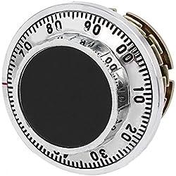 sourcing map 75mmx56mm Conjunto De Bloqueo De Combinación De Dial De Metal Combinación De Dígito De Seguridad Caja De Seguridad Codificada