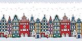 Fensterfolie Dekofolie 'Häuser' | Selbstklebend | dekorativer Sichtschutz | Glasdekorfolie | Aufkleber | Fensterbild | Fenstersticker | Fenster-Deko | Dekorfolie | Window-Sticker, Größe:90x45 cm