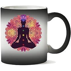 Taza de mandala, mantra, chacras, meditación