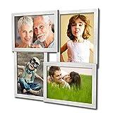 Artepoint 405 Fotogalerie für 4 Fotos 13x18 cm - 3D Optik - Bilderrahmen Bildergalerie Fotocollage Rahmenfarbe Silber gebürstet