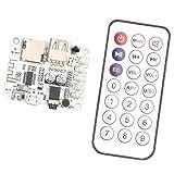 Haljia V4.2Bluetooth sans fil récepteur audio amplificateur numérique Board avec télécommande et micro port USB logement de carte TF Play de Décodage FM Radio Module émetteur de musique stéréo pour casque HiFi amplificateur